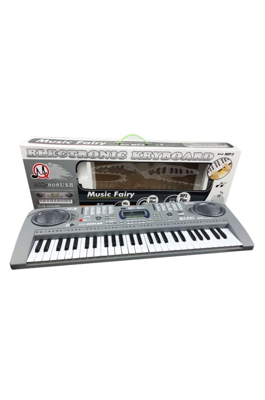 Детский синтезатор пианино MQ 808 USB 54 клавиши
