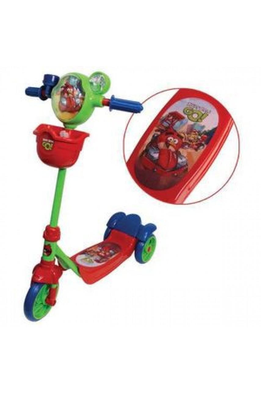 Детский самокат трехколесный 1Toy Angry Birds Go Т57581