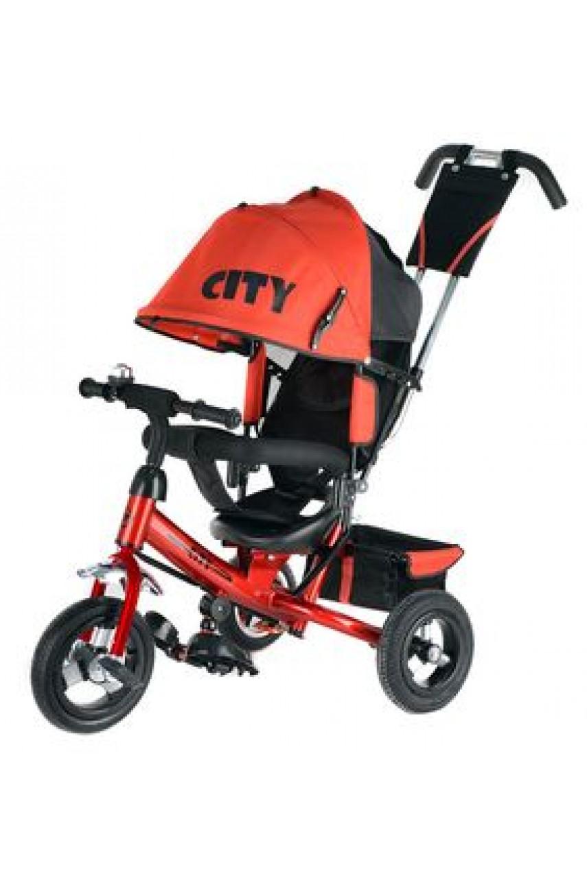 Детский трехколесный велосипед Trike City JW7R надувные колеса