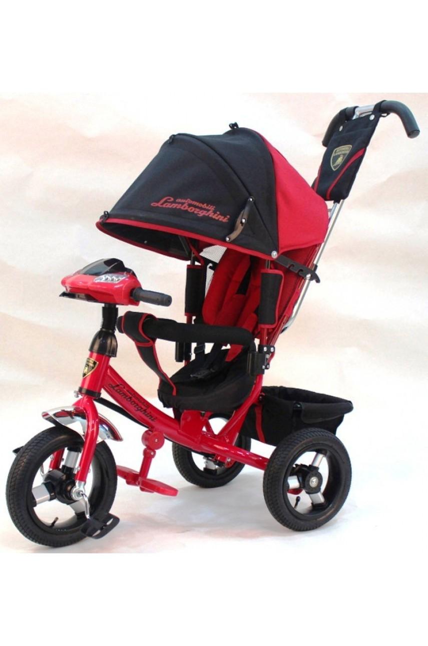 Детский трехколесный велосипед Lamborghini Original L2R надувные колеса красный
