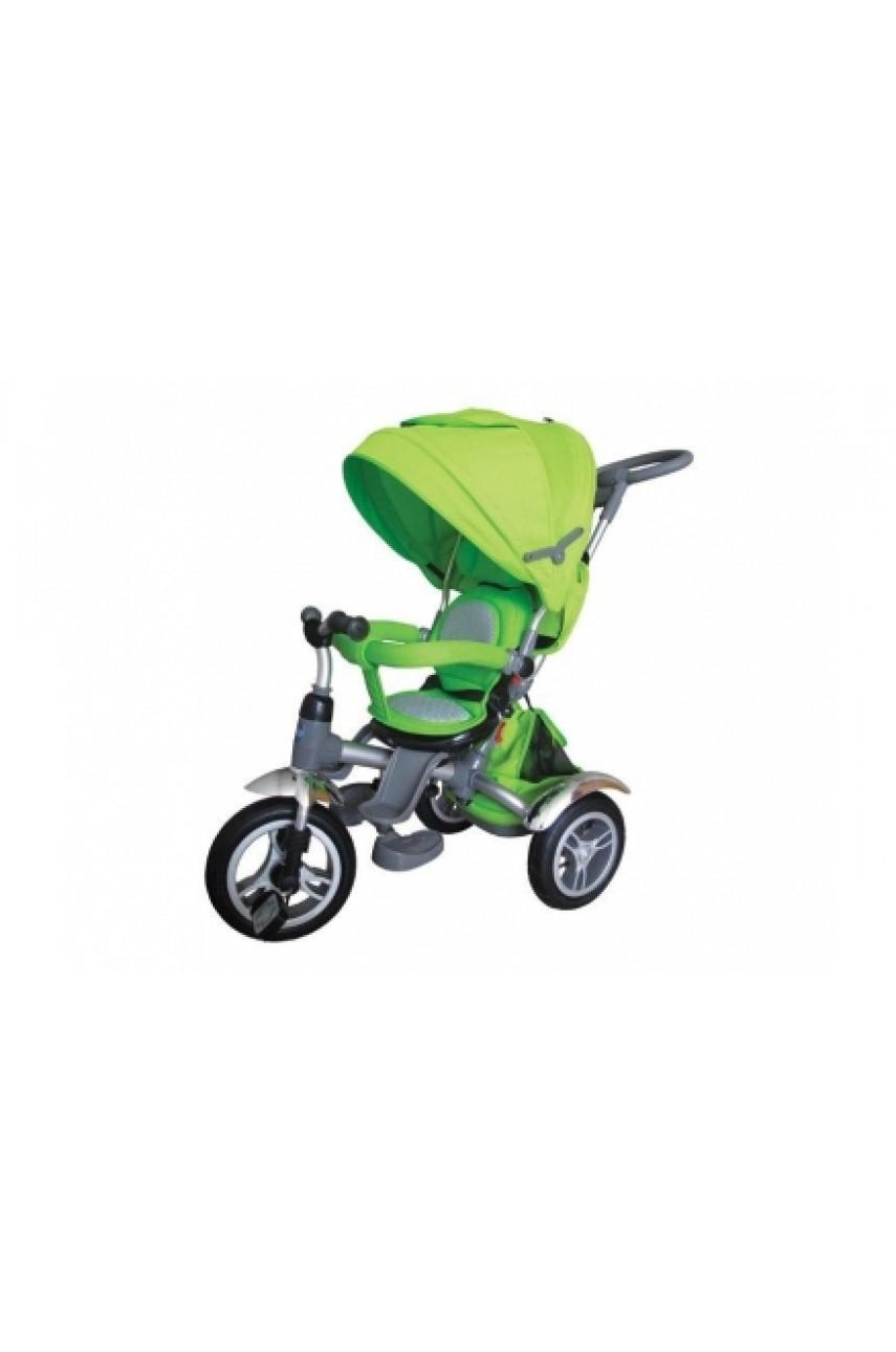 Детский трехколесный велосипед MODI NEO N2G с поворотным сиденьем надувные колеса ЗЕЛЕНЫЙ