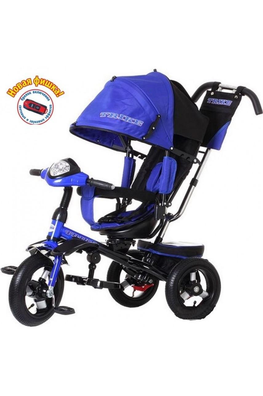 Детский трехколесный велосипед Trike TL4В с поворотным сиденьем на надувных колесах, синий