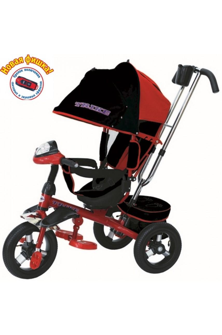 Детский трехколесный велосипед Trike TL4R с поворотным сиденьем на надувных колесах, красный