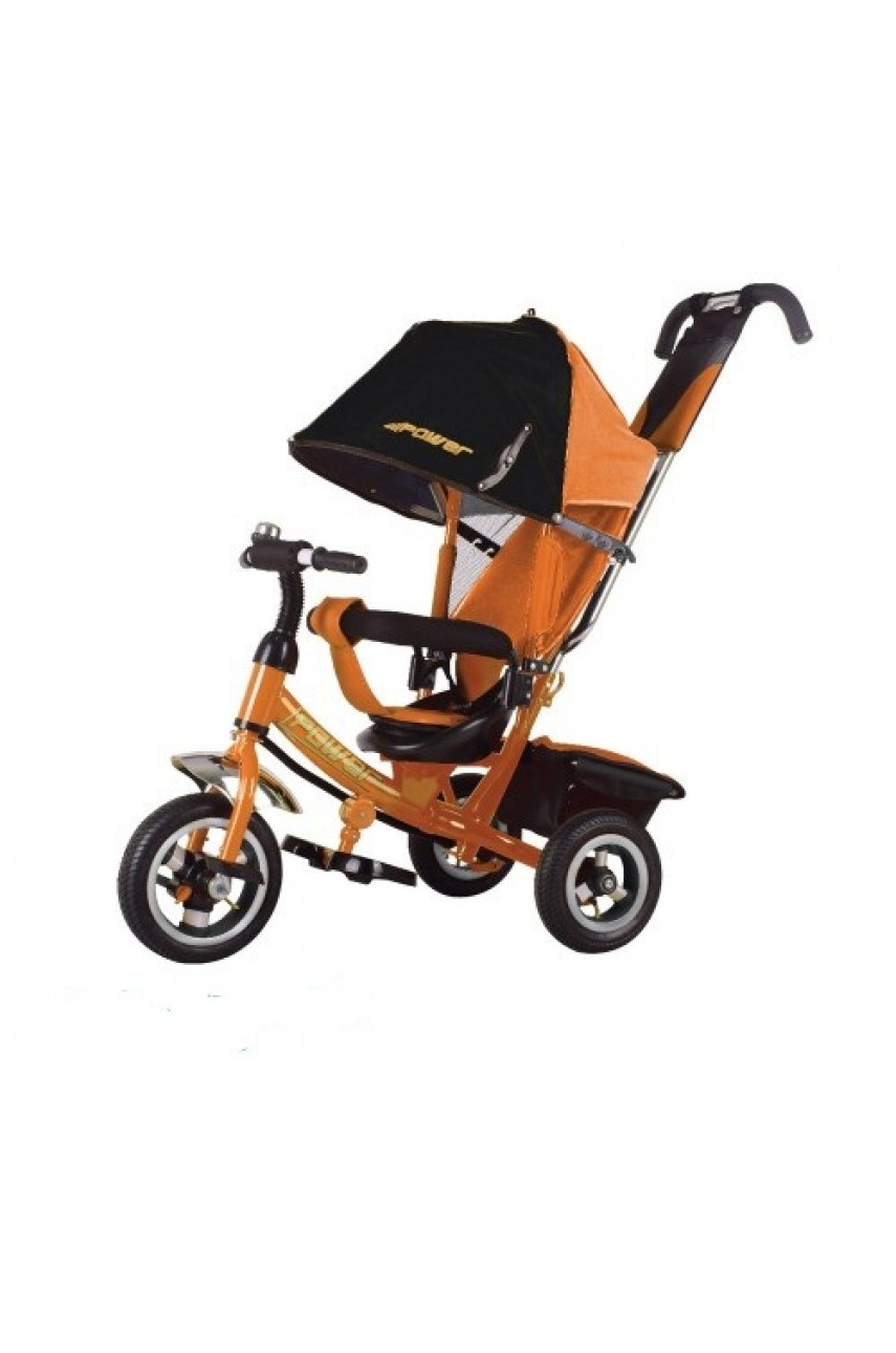 Детский трехколесный велосипед Trike Power JP7O оранжевый Надувные колеса