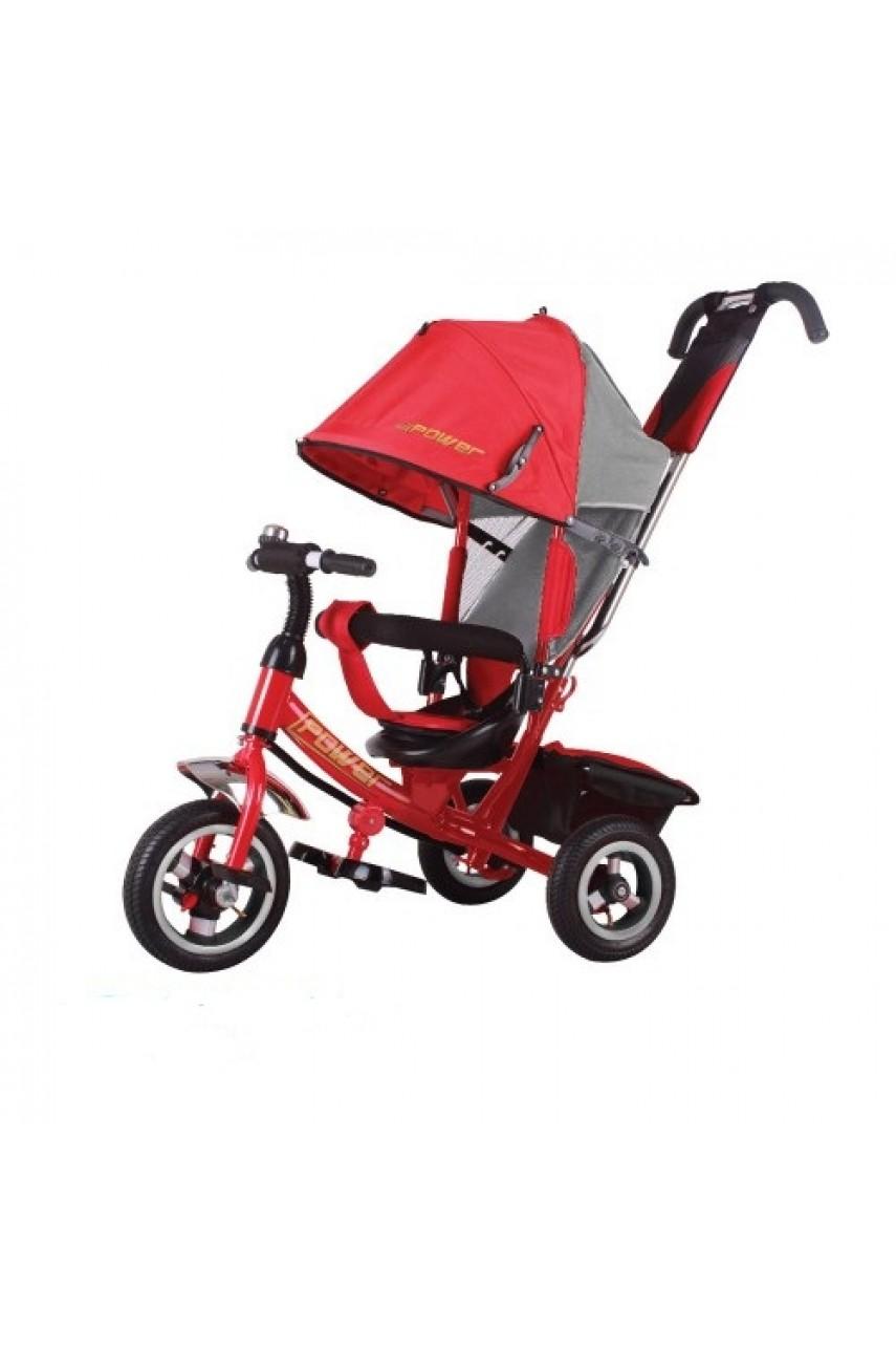 Детский трехколесный велосипед Trike Power JP7R надувные колеса красный