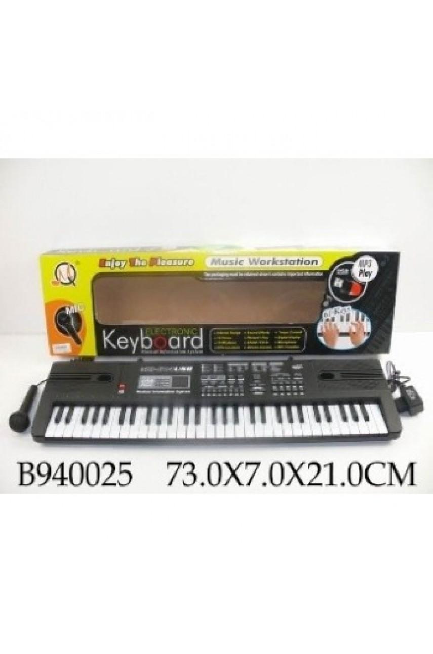 Детский синтезатор с микрофоном MQ-814usb