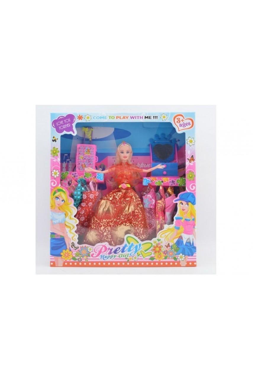 Кукла с платьями и набором аксессуаров 931-10