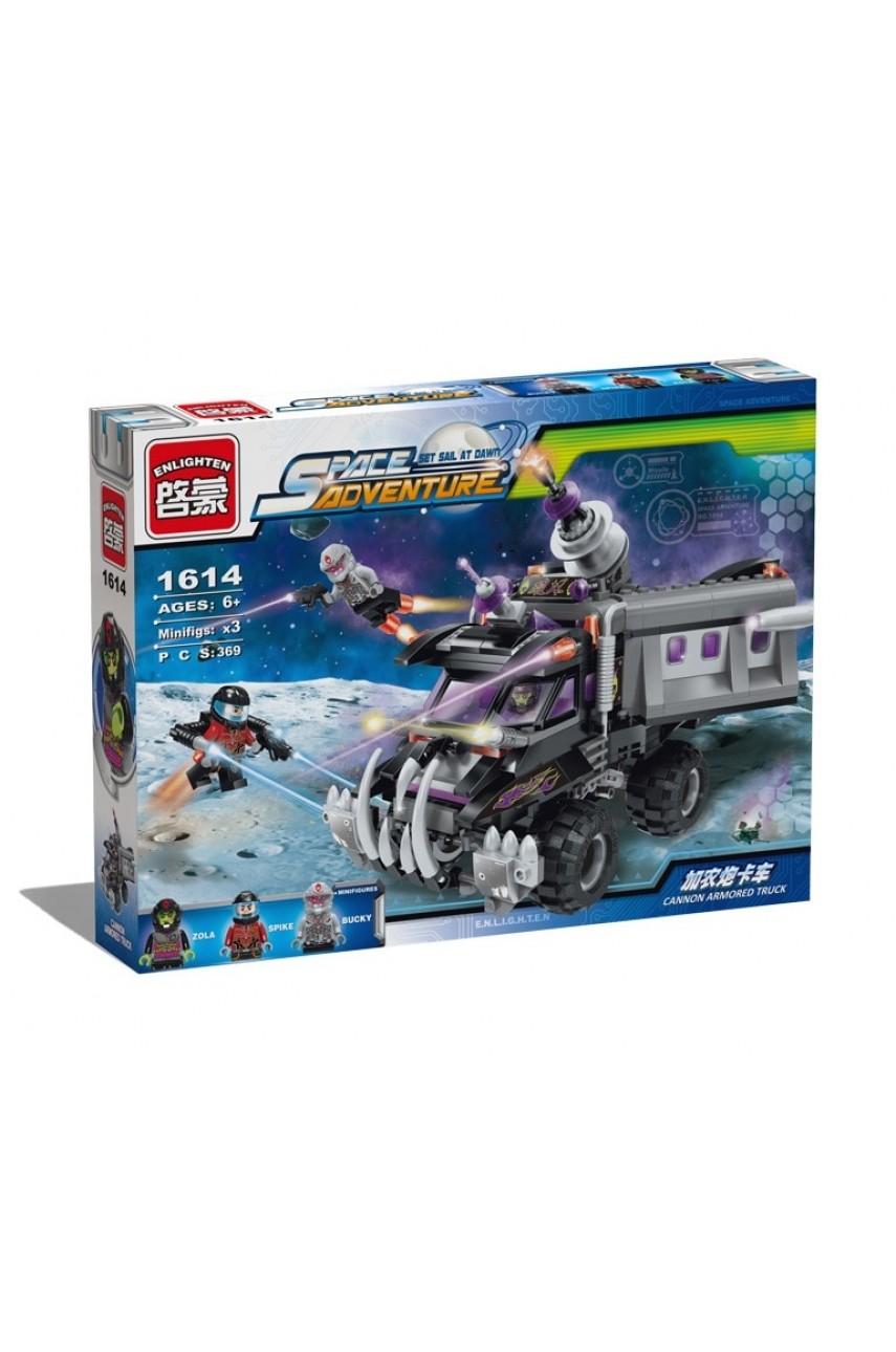 Конструктор Brick 1614 Космический грузовик, 369 деталей
