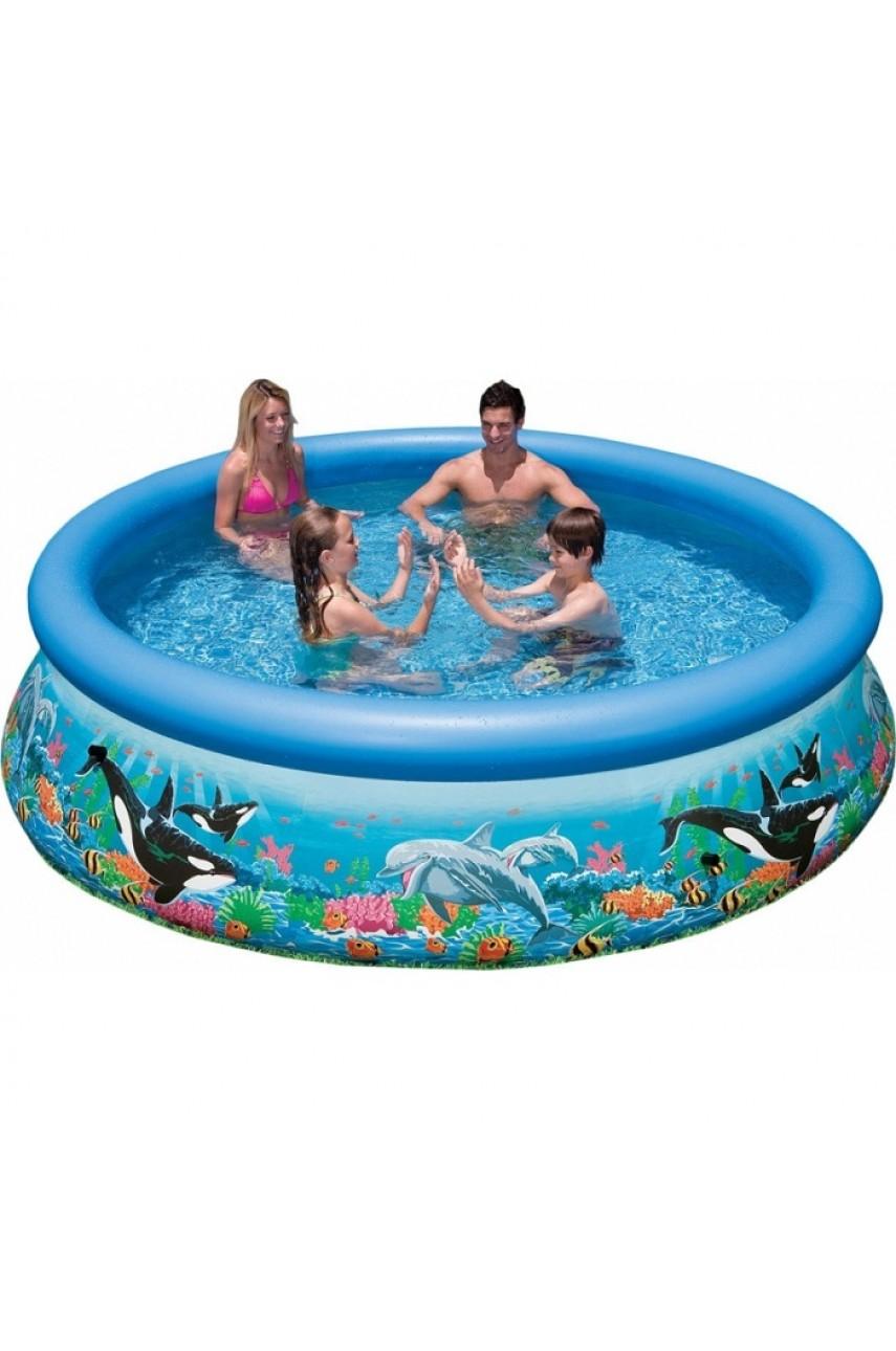 Intex 28124/54900 бассейн надувной  Easy set Ocean Reef 305х76см (без фильтр-насоса)