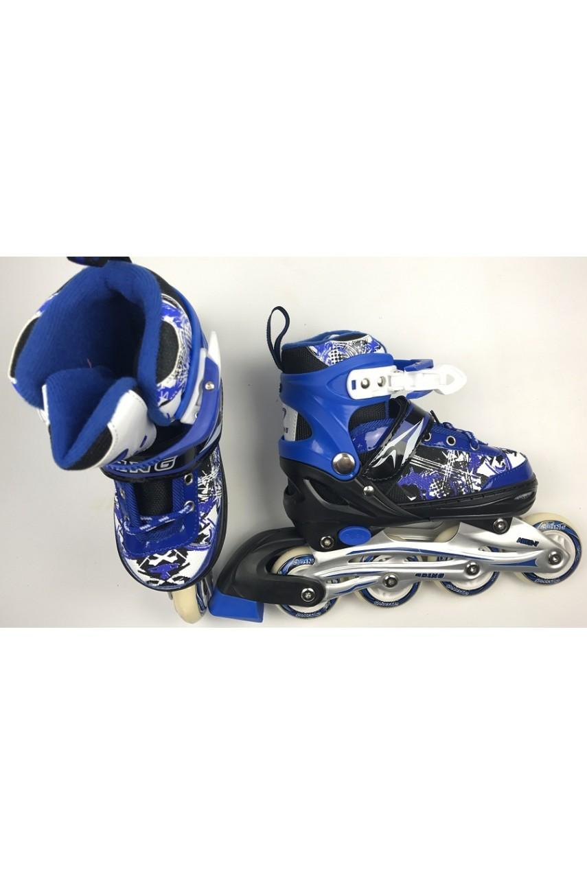 Детские роликовые коньки 0614 размер 35-38, 39-41 цвет синий