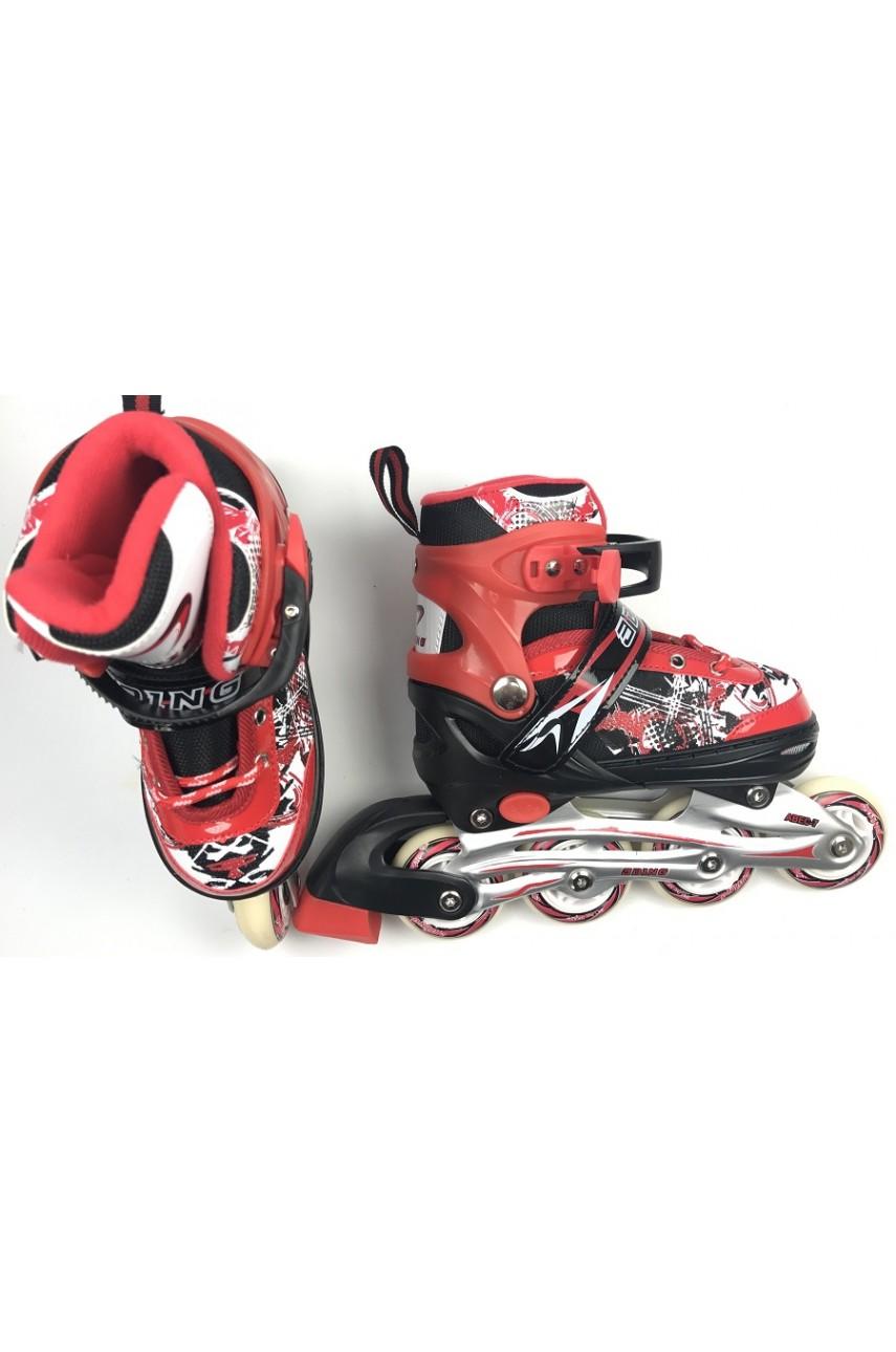 Детские роликовые коньки 0614 размер 35-38, 39-41 цвет красный