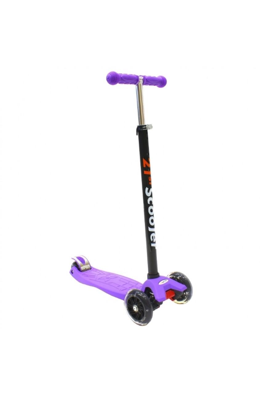 Детский трехколесный самокат 21st scooter maxi Фиолетовый