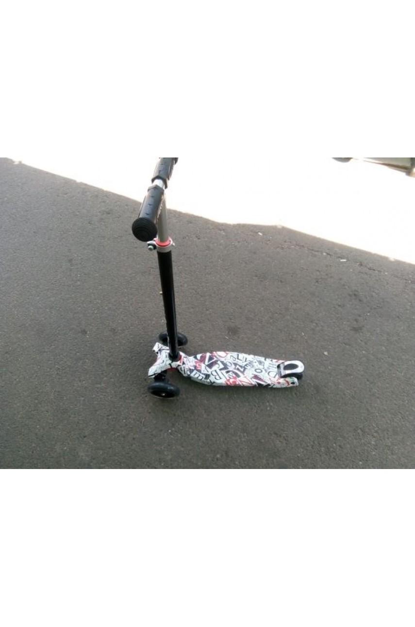 Детский трехколесный самокат 21 st scooter maxi принт