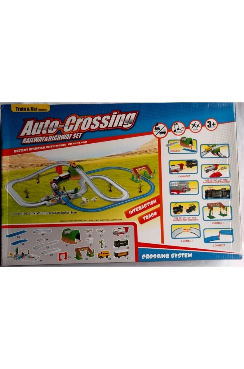 Игровой набор Пересечение железной и авто дорог арт. А 40-5