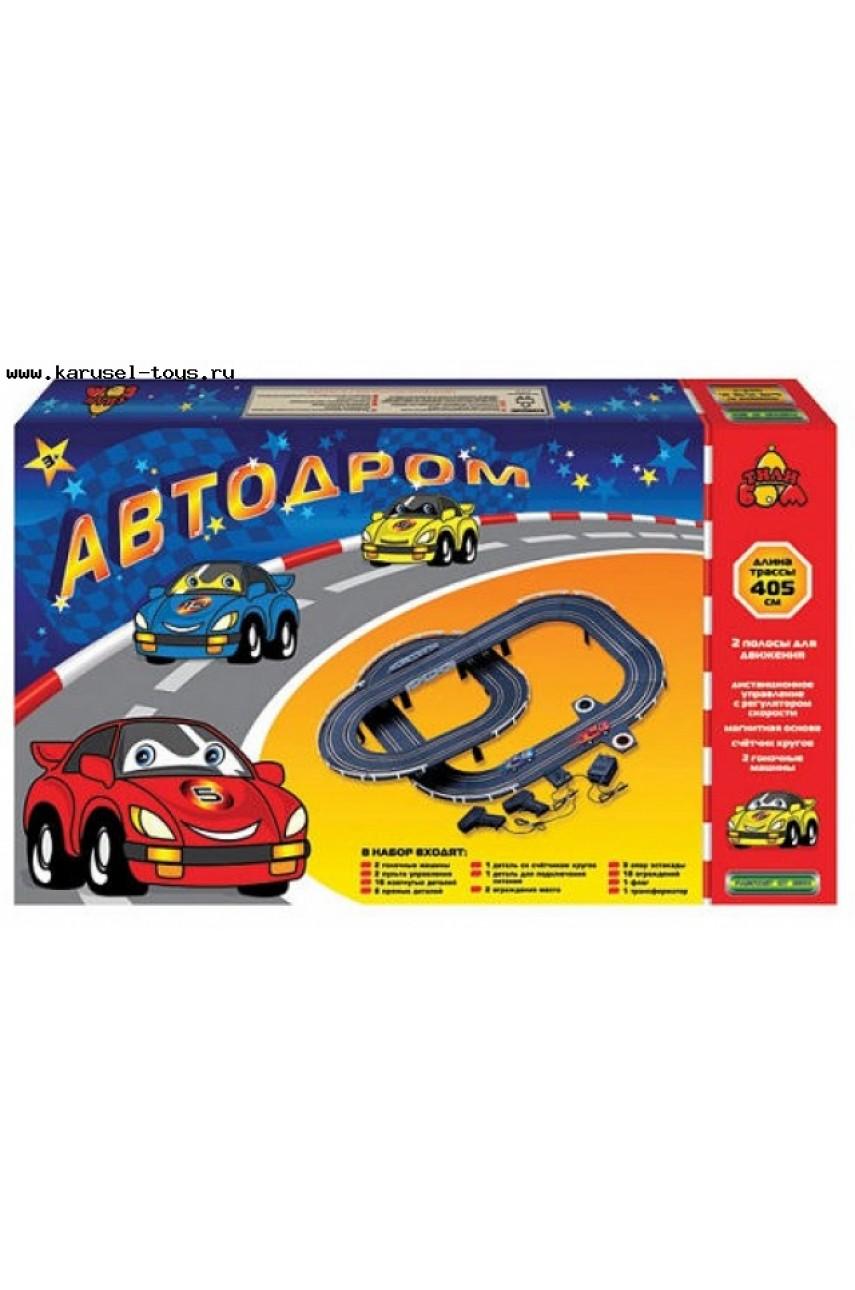 Автотрек Автодром длина 405 см, работает от батареек