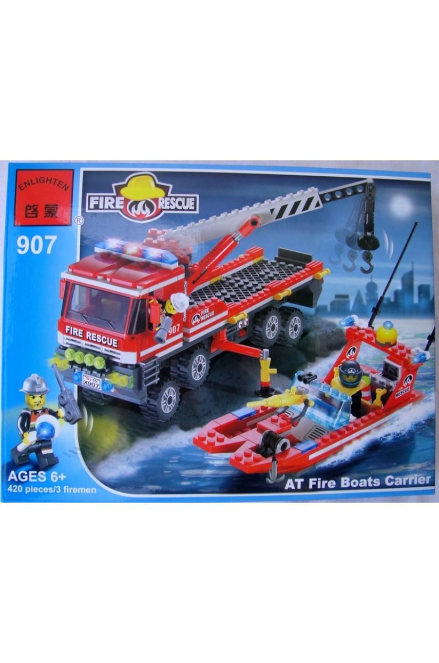 Детский конструктор Brick 907 Пожарные спасатели