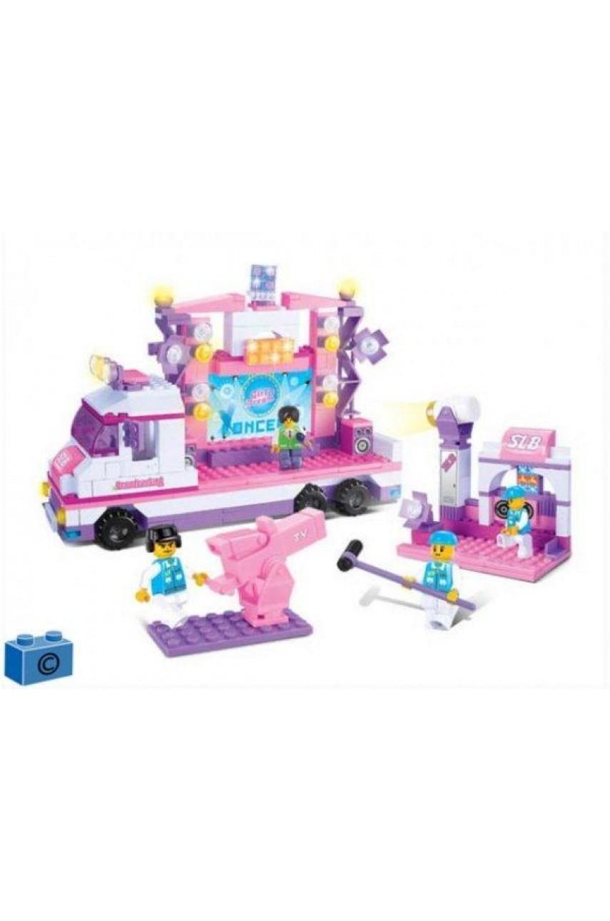 Конструктор Розовая мечта - Телестудия Sluban B0253 369 деталей, световые эффекты