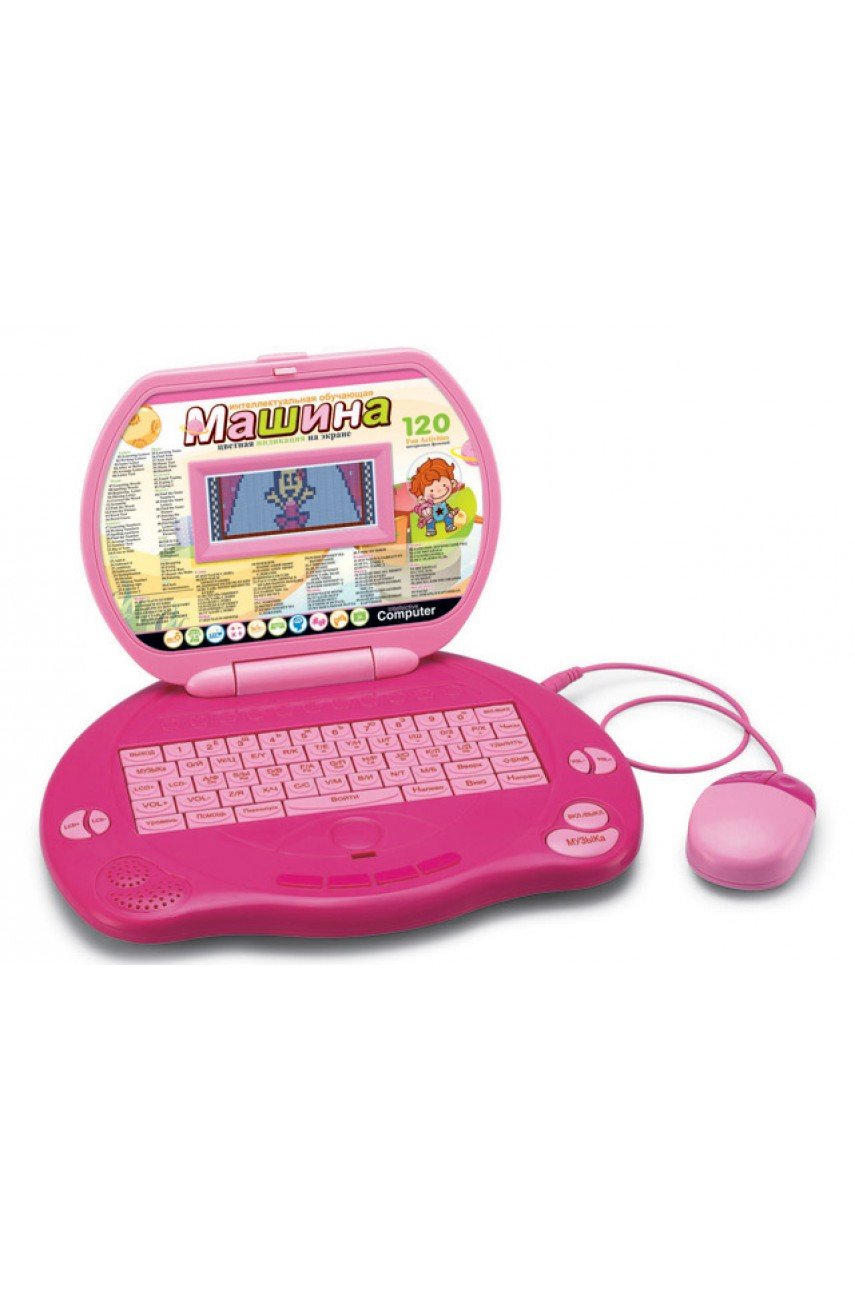 Детский компьютер 120 упражнений Розовая планета