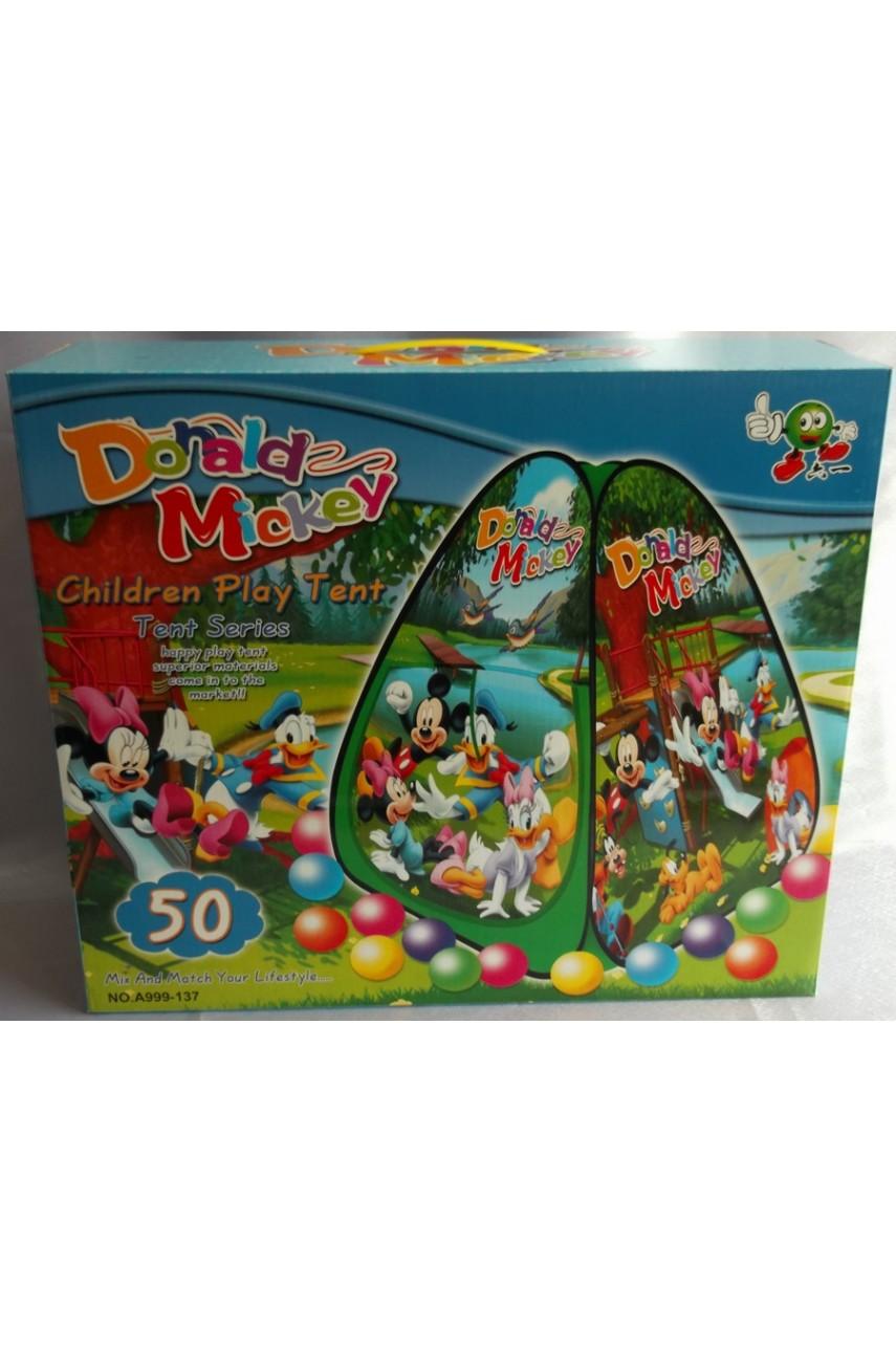 Детская игровая палатка Donald and Mickey с шариками