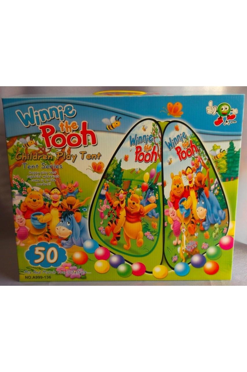 Детская игровая палатка с шариками Винни Пух
