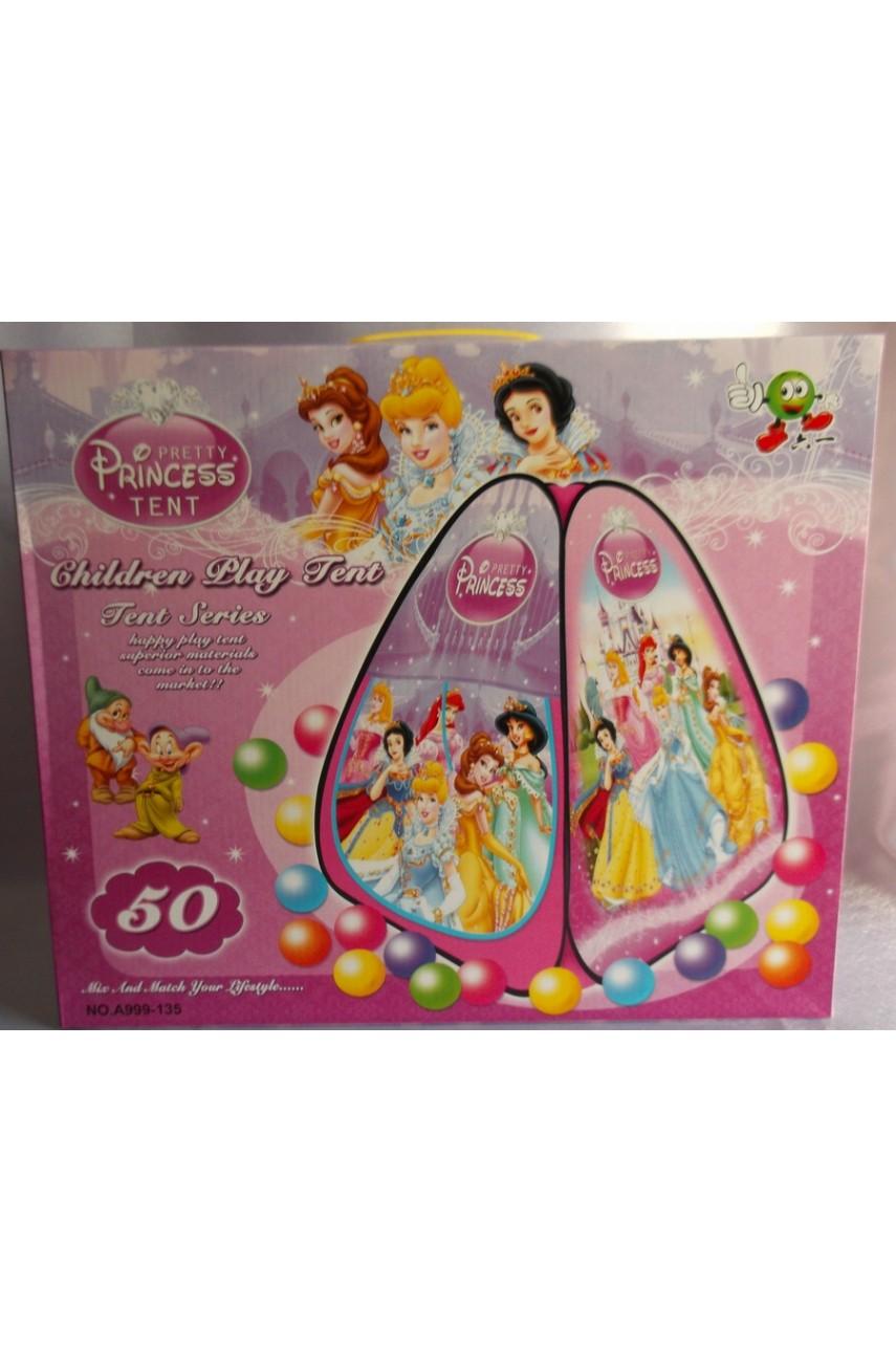 Детская игровая палатка Замок принцессы с шариками
