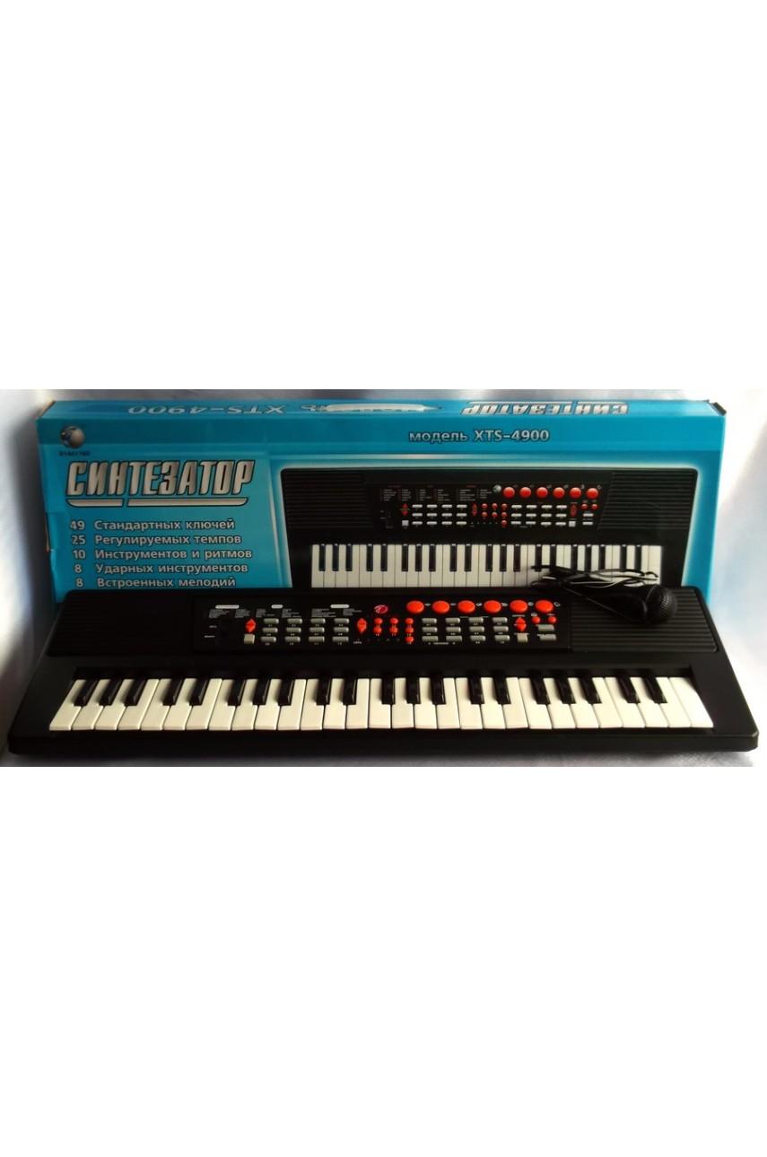 Детский синтезатор пианино с микрофоном XTS-4900