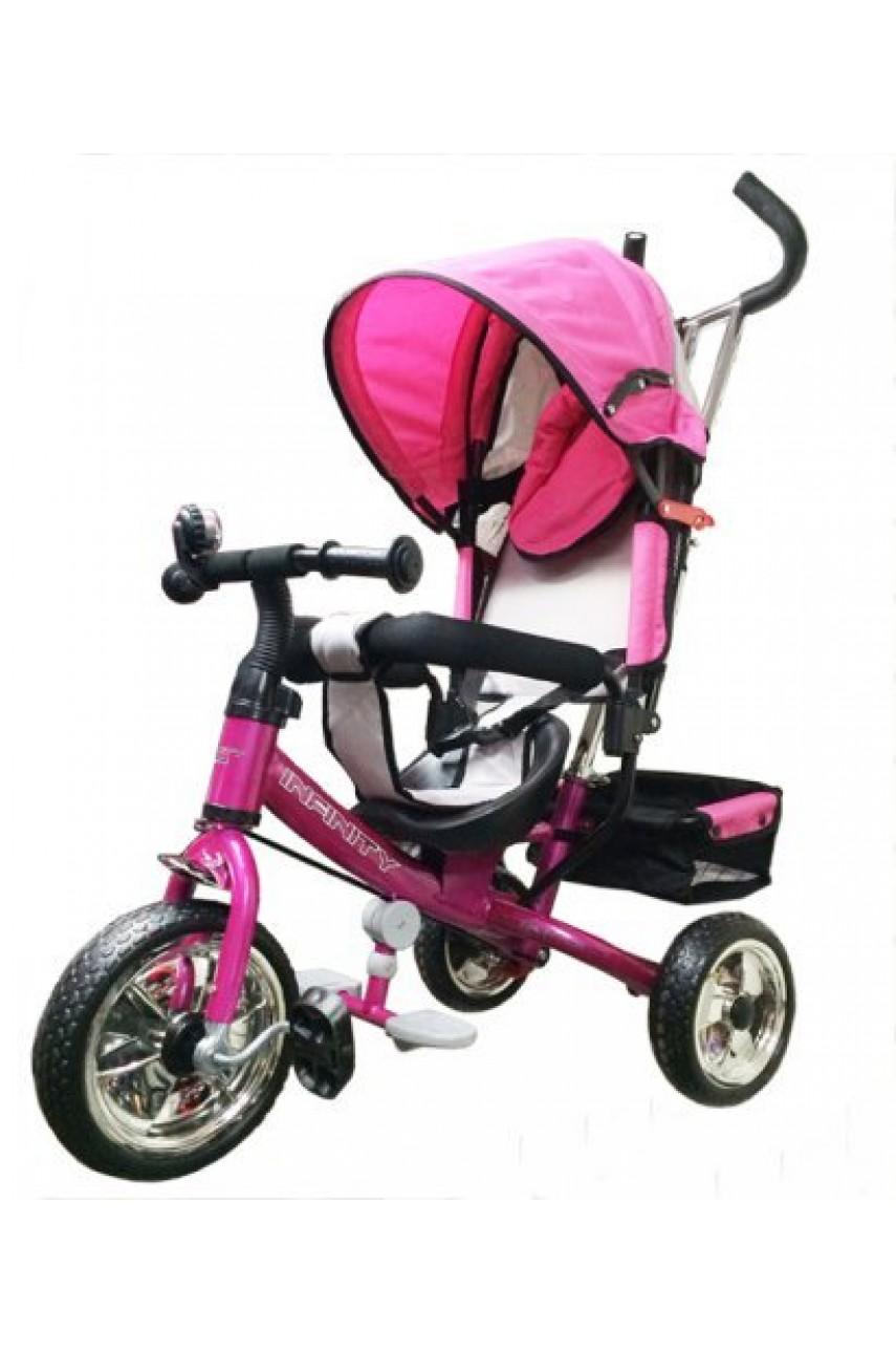 Детский трёхколёсный велосипед Infinity Trike розовый