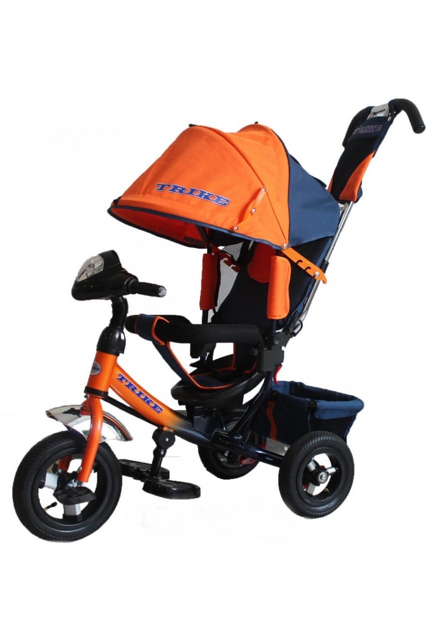 Детский трехколесный велосипед Trike TL 3O надувные колеса, фара