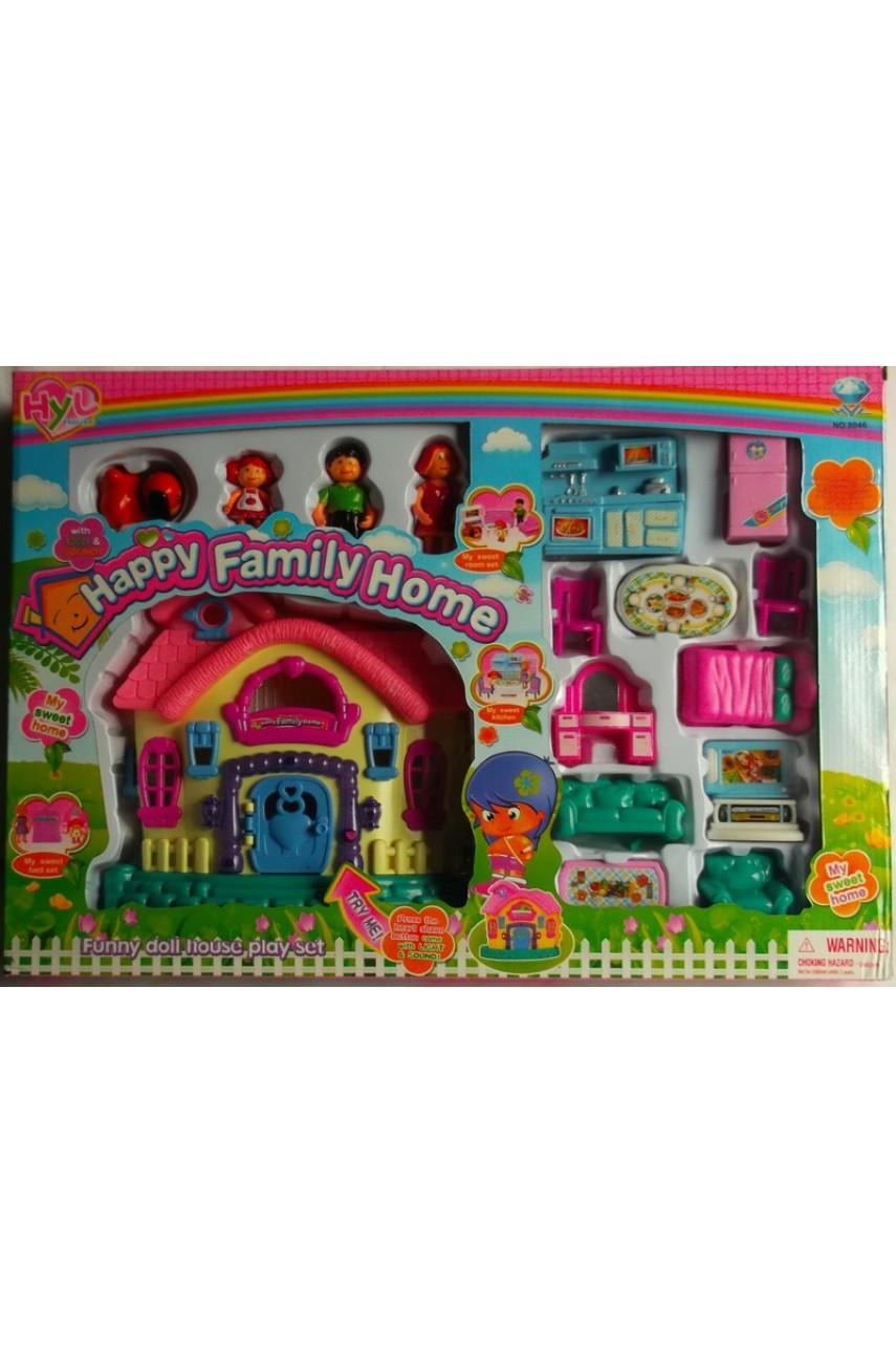 Домик для кукол Happy family home 8046