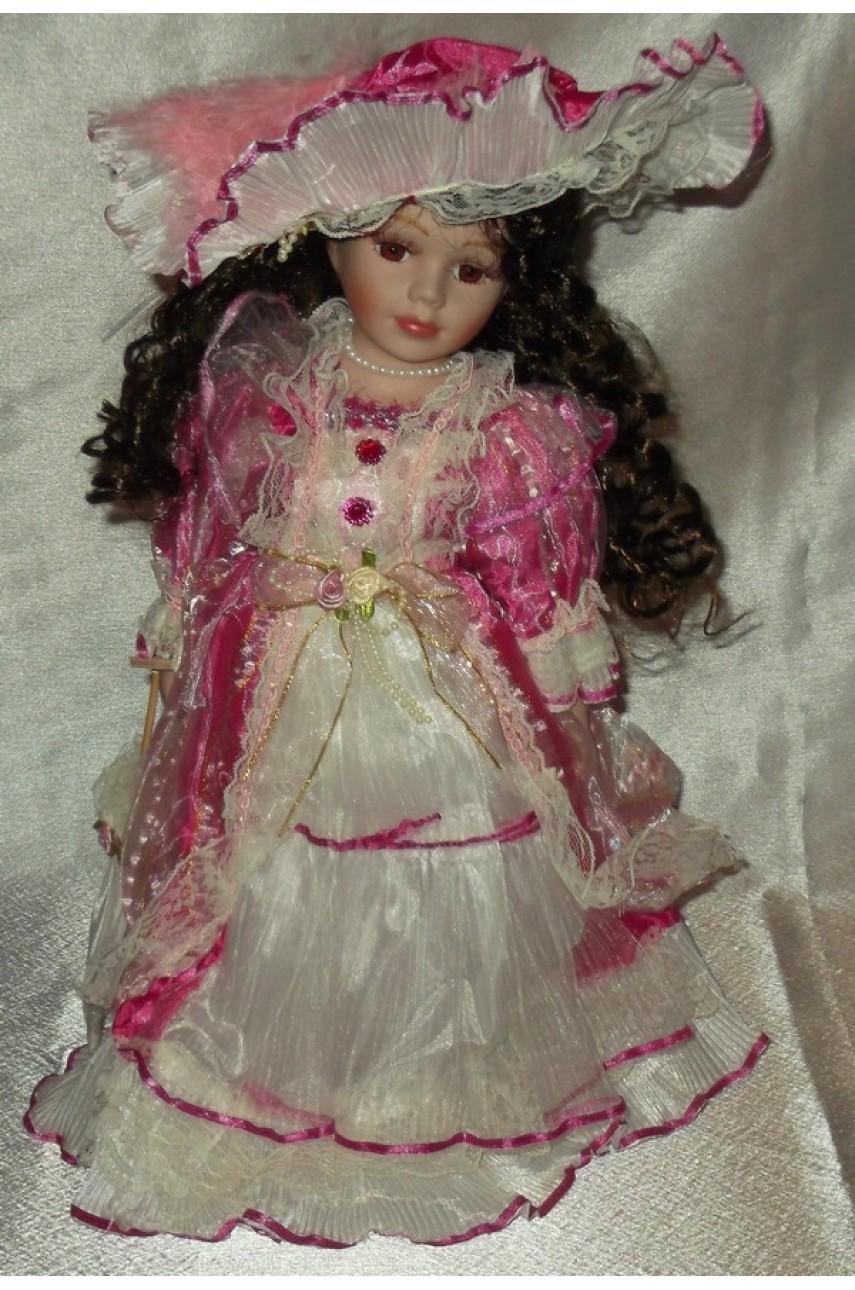 Кукла фарфоровая в бальном платье 40 см 16336B