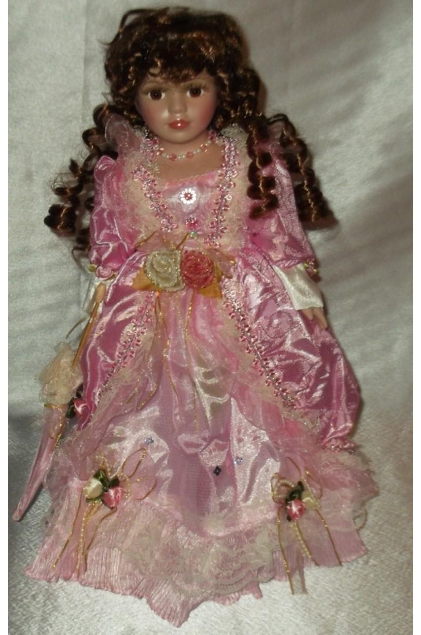 Кукла фарфоровая в бальном платье 40 см Вера