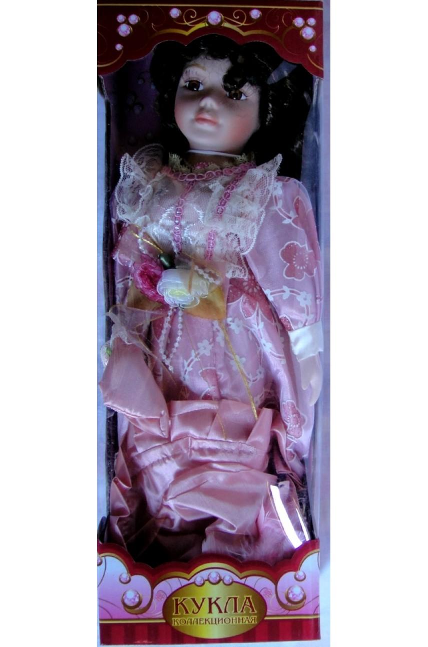 Кукла фарфоровая в бальном платье 40 см 18240
