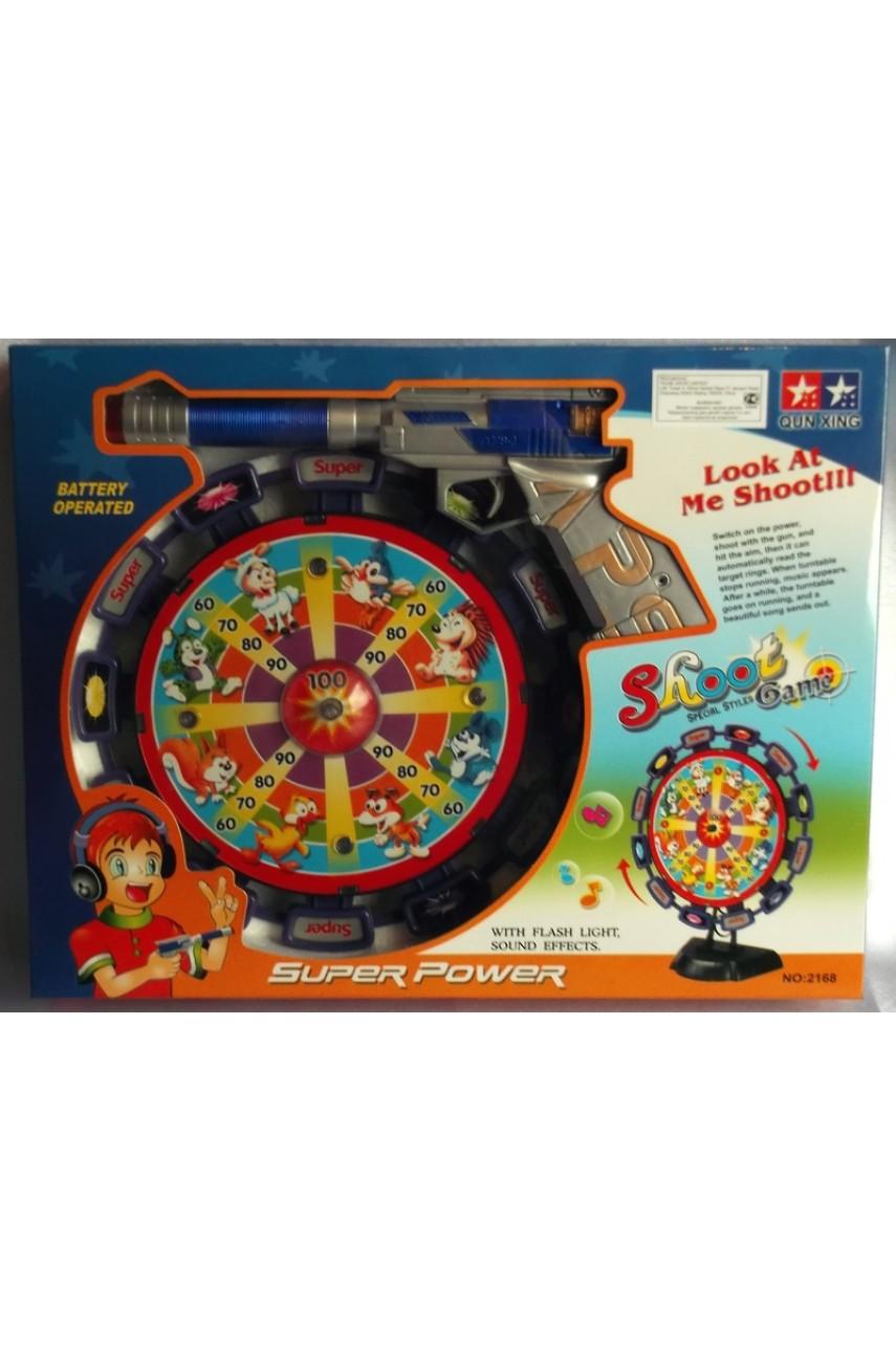 Игровой набор Тир с пистолетом и мишенью 2168