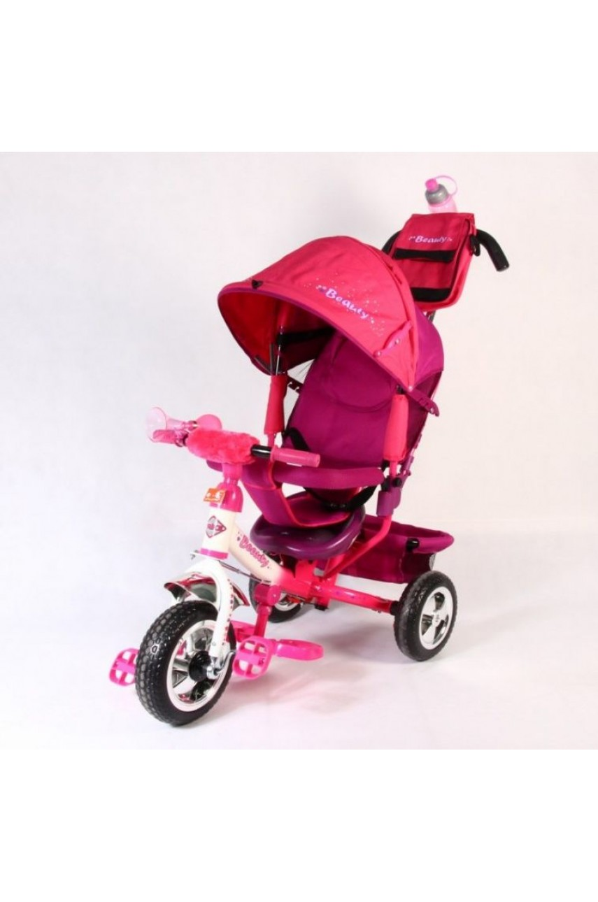 Детский трехколесный велосипед Trike Beauty B2PV розовый ПВХ колёса