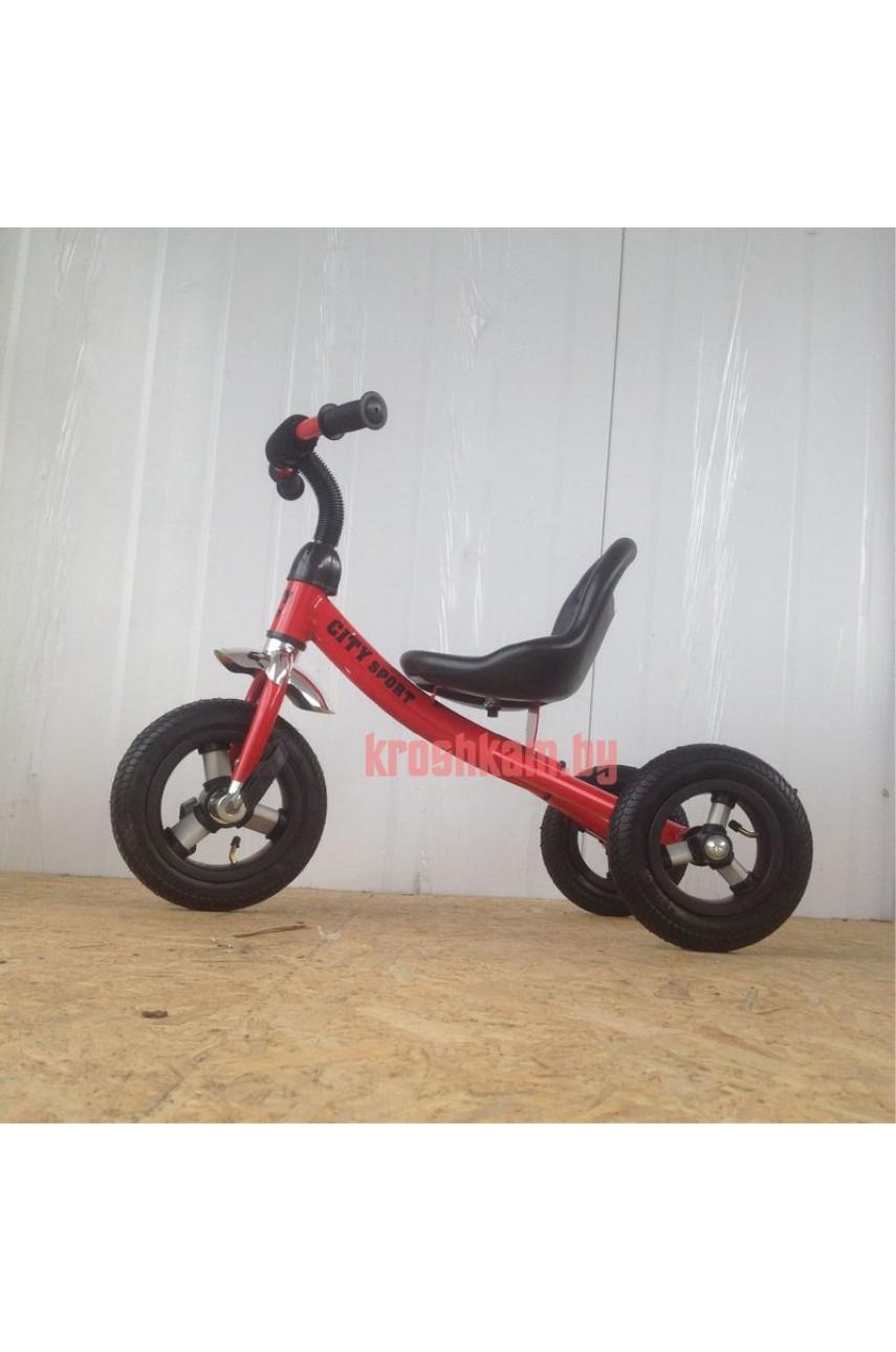 Детский трехколесный велосипед City Sport надувные колеса