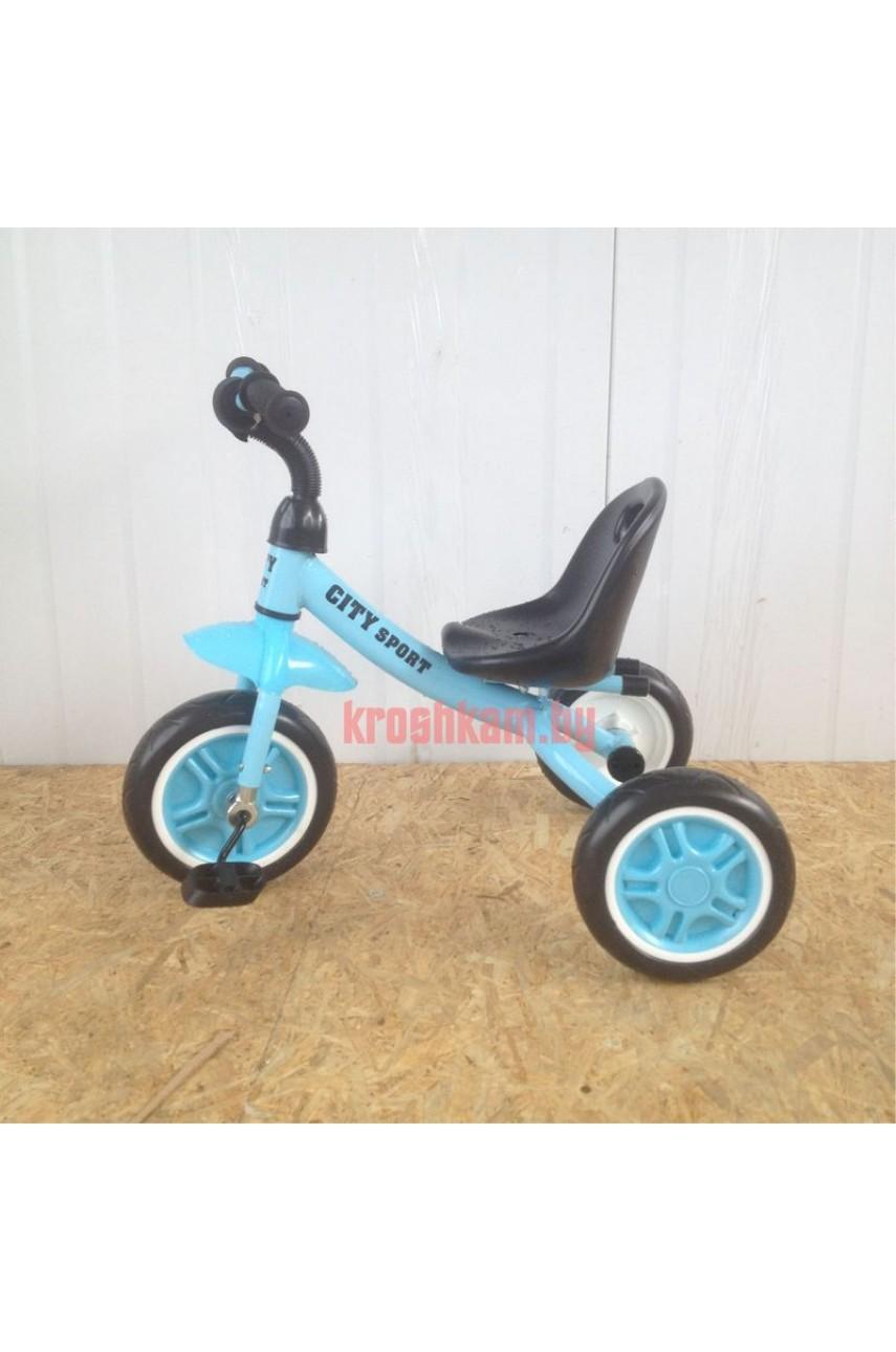 Детский трехколесный велосипед City Sport  ПВХ колеса