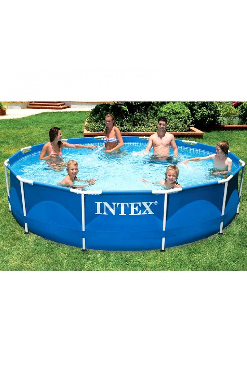 Intex 56996/28212 Бассейн каркасный 366х76 см Metal Frame Pool Set с фильтр-насосом