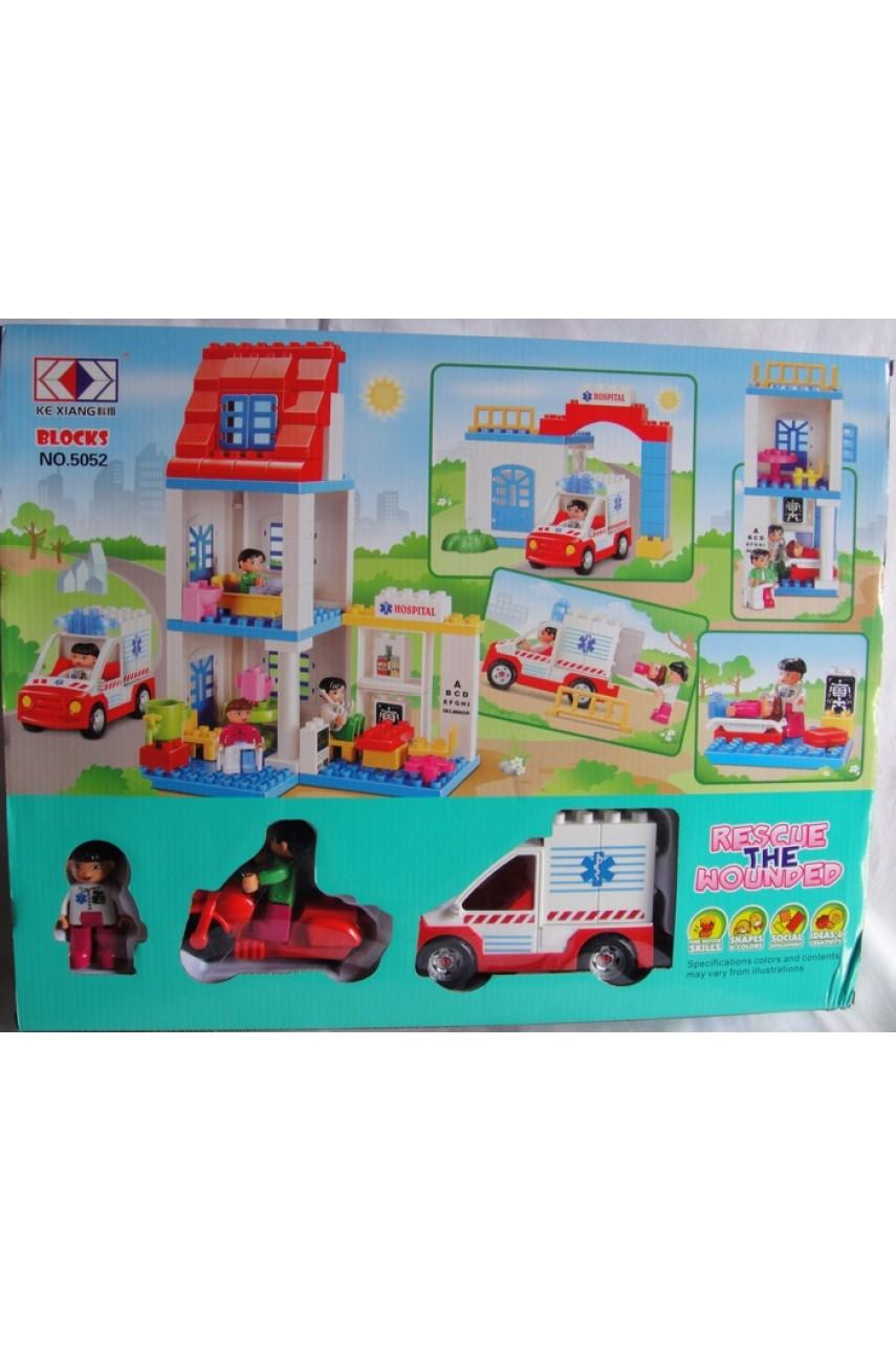 Детский конструктор Blocks 5052 серия Больница