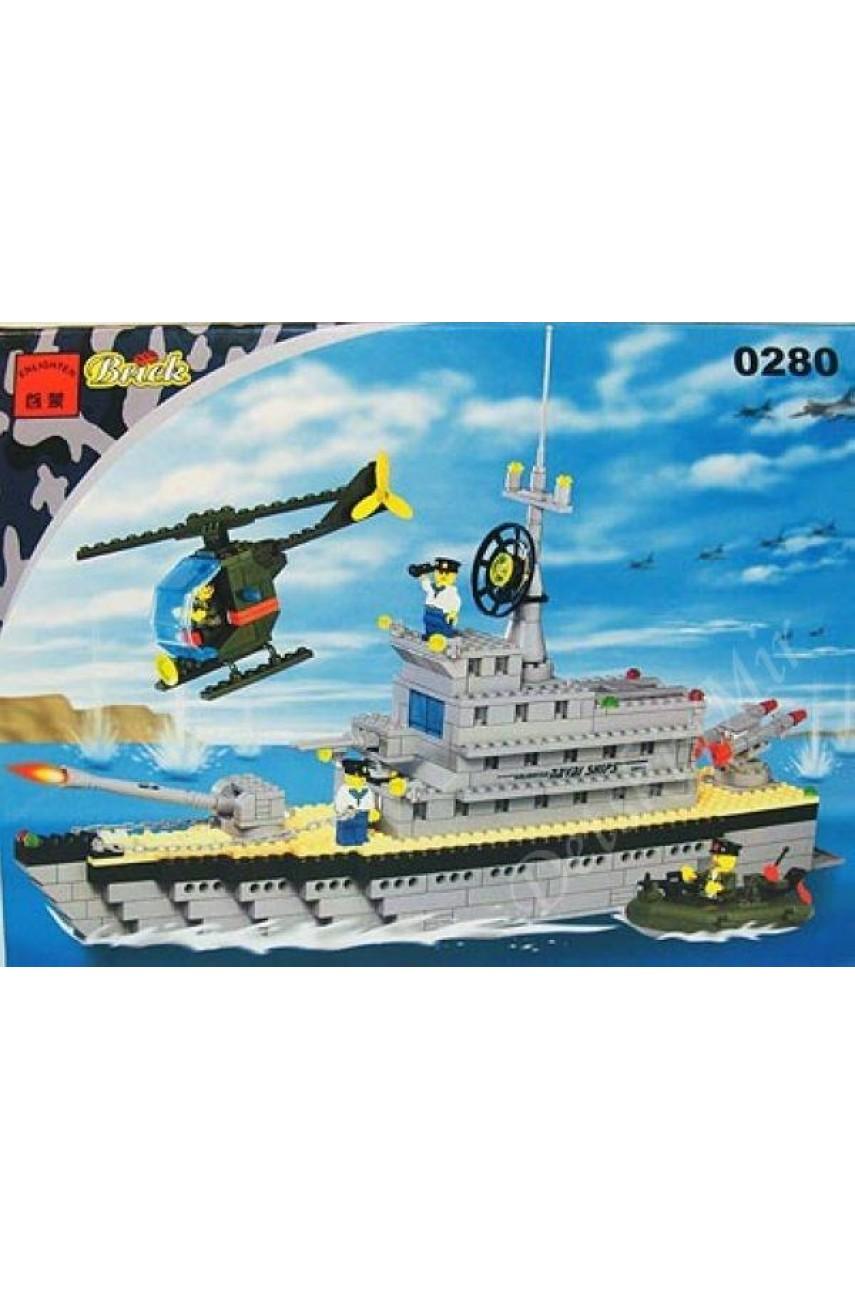 Конструктор Brick 0280 Боевой корабль серии Century Military (Армия)