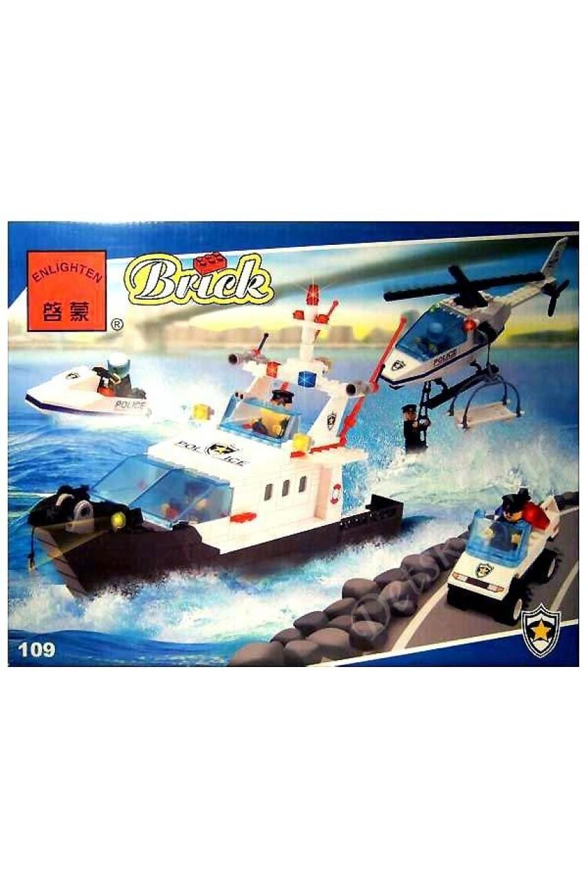 Конструктор Brick 109 Морской патруль из серии 'Police (Полиция)