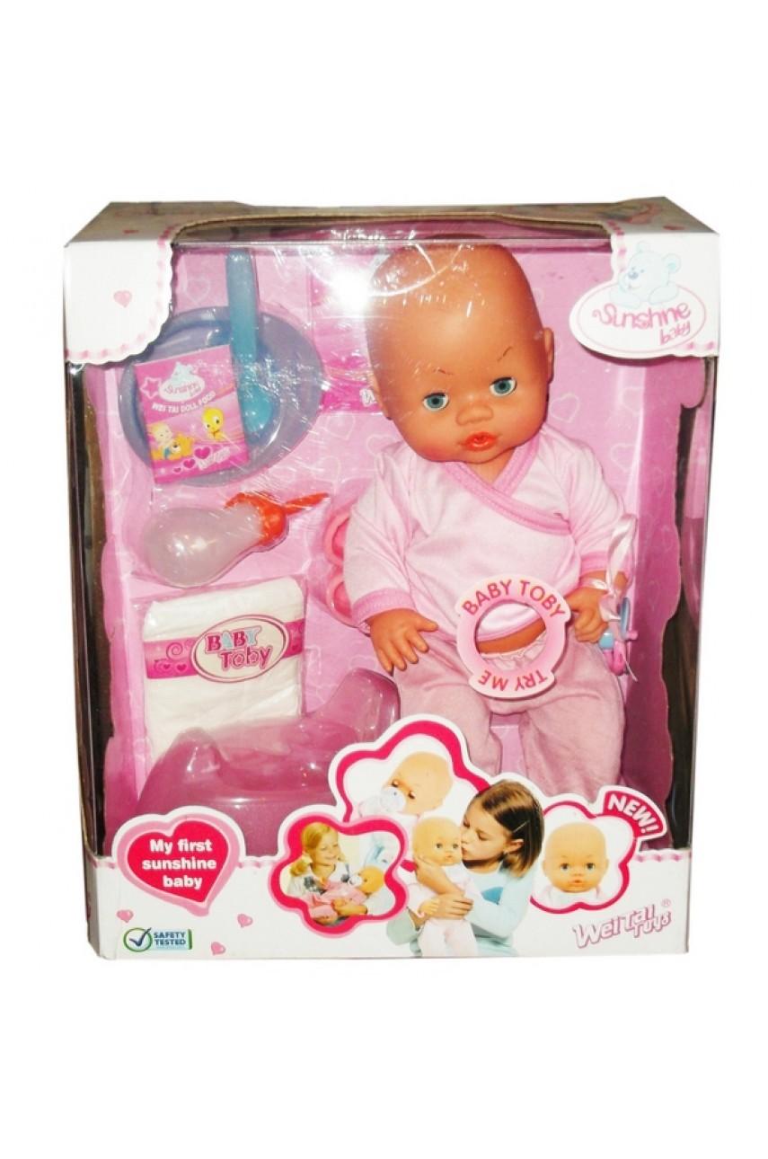 Кукла baby toby 6 функций
