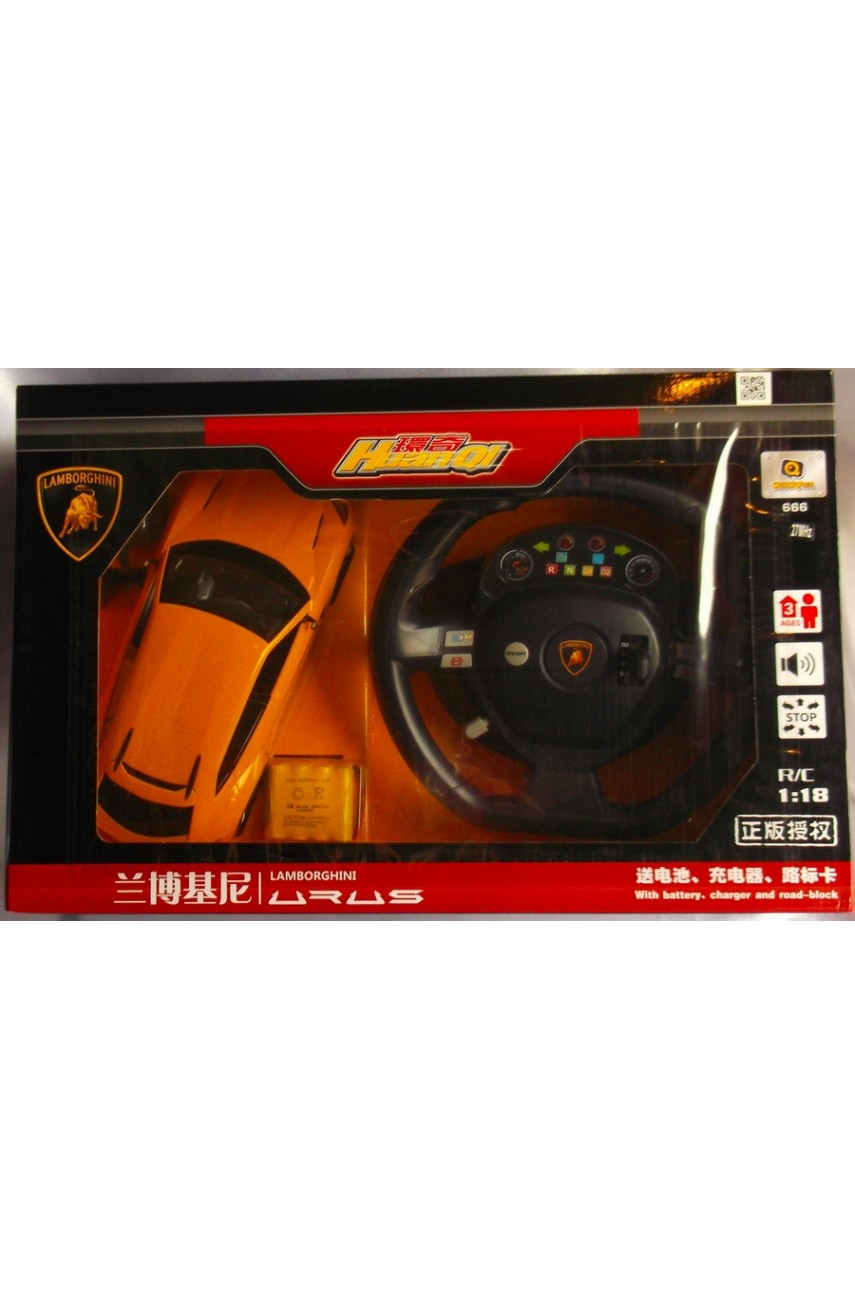 Машина на радиоуправлении с рулем Lamborghini