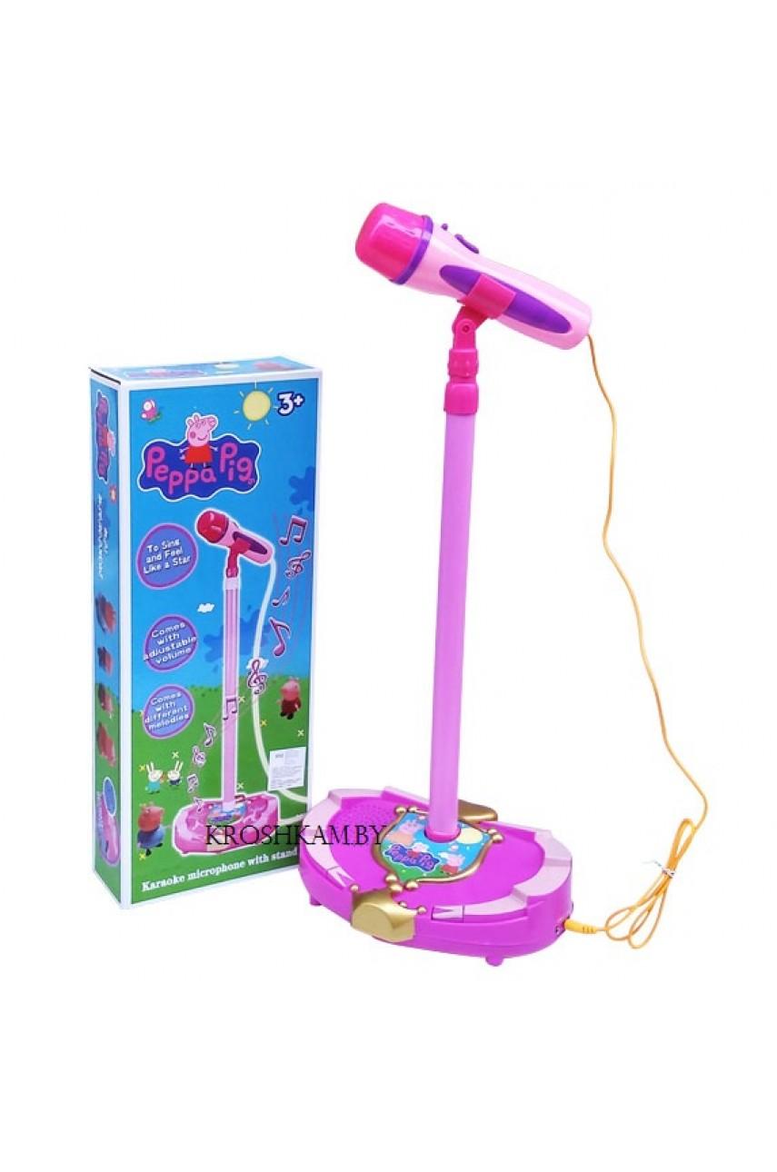 Микрофон на стойке Свинка Пеппа DN808-PP