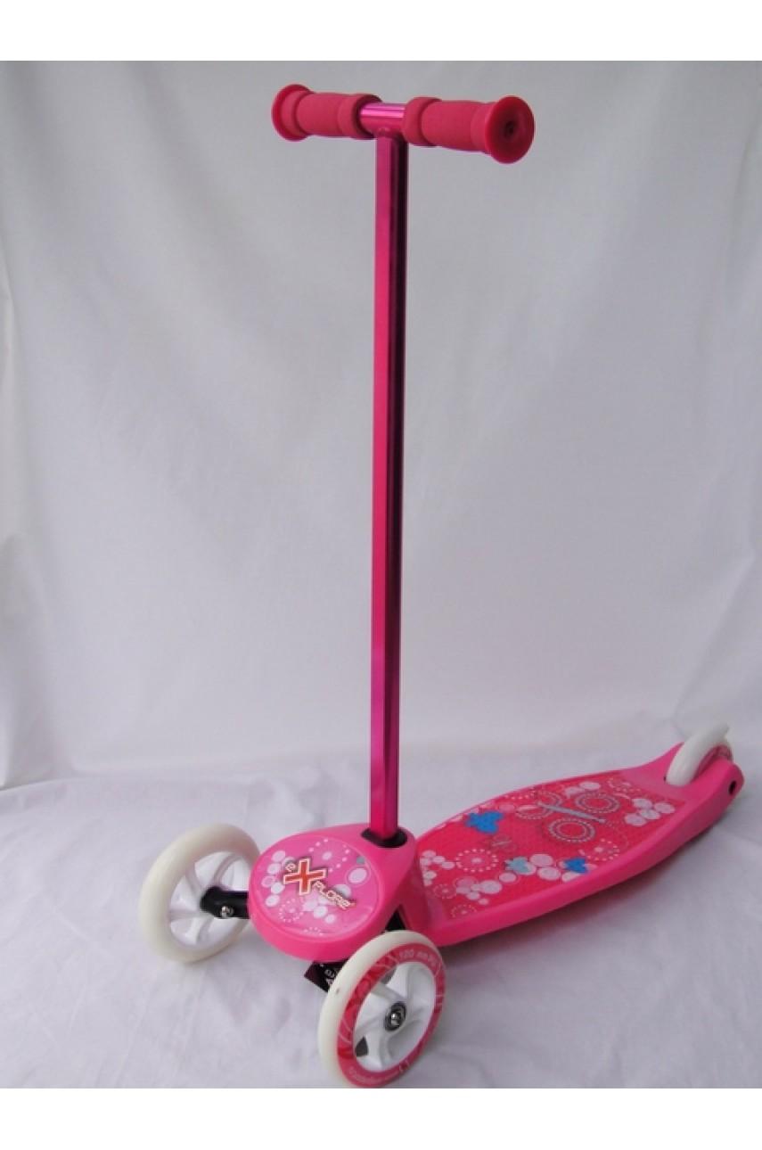 Детский самокат трехколесный Explore Pilot розовый