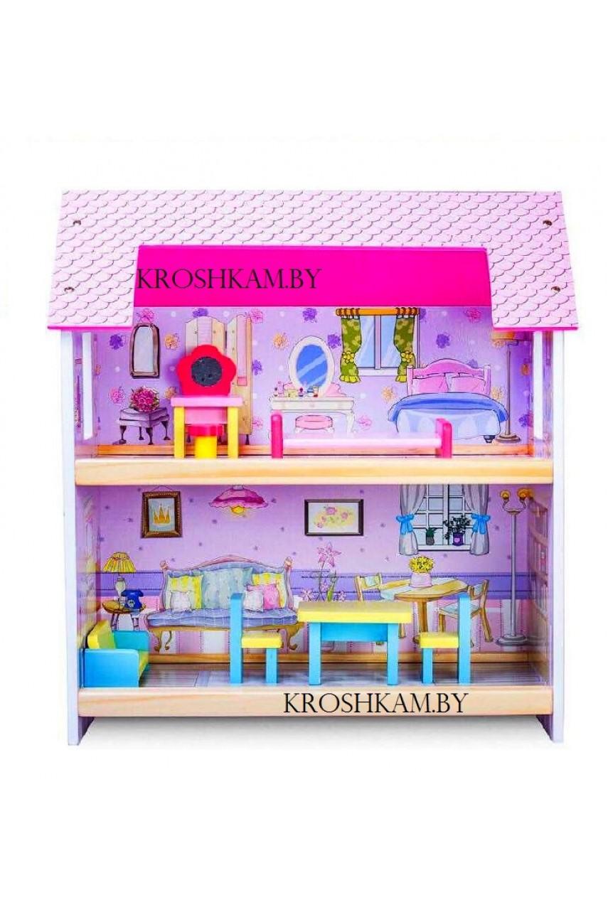 Деревянный домик для кукол VT174-1153