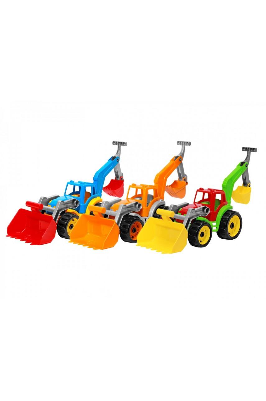 Игрушка Трактор с двумя ковшами ТехноК 3671