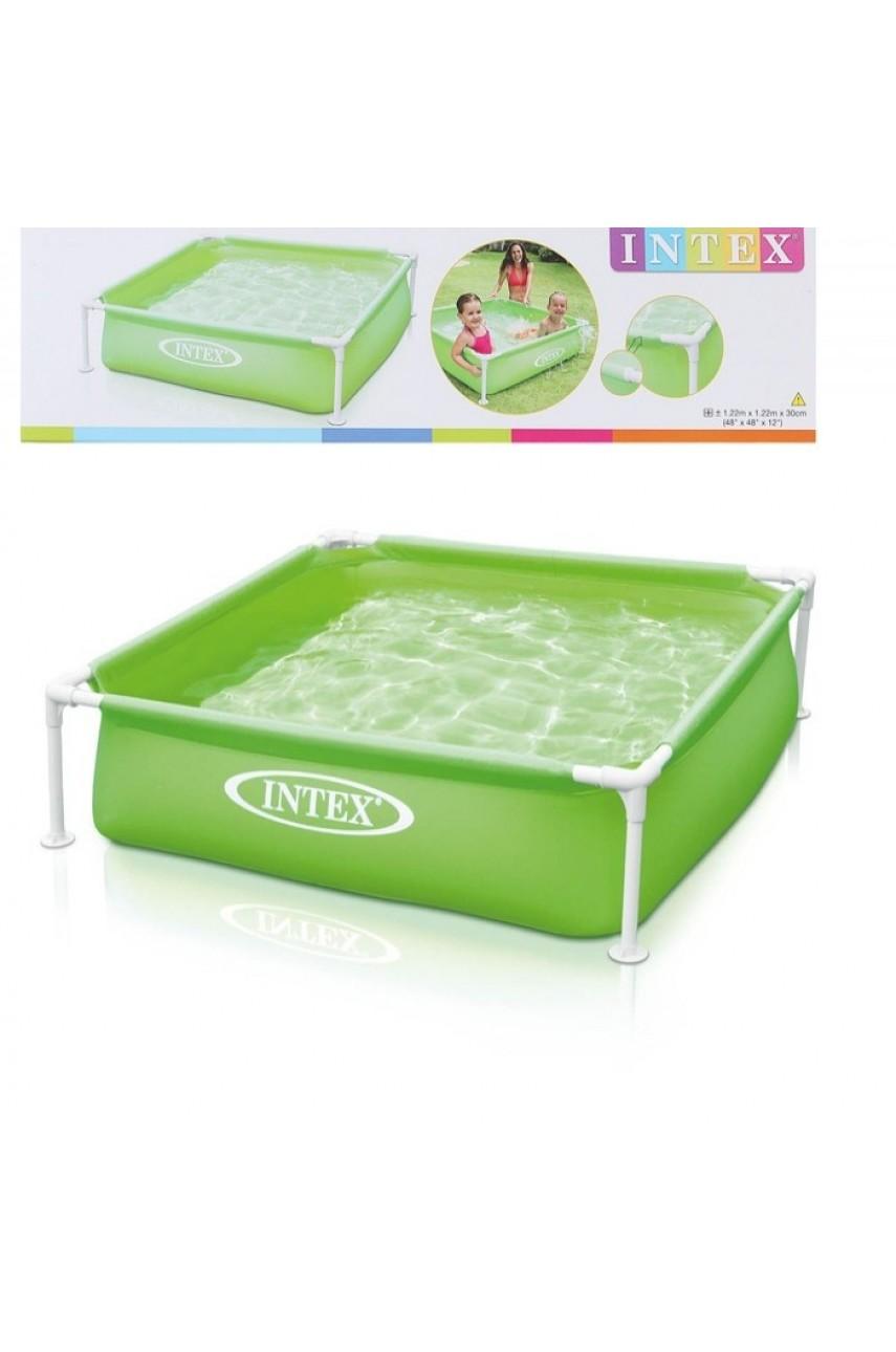 Каркасный бассейн Intex 57172NP зеленый