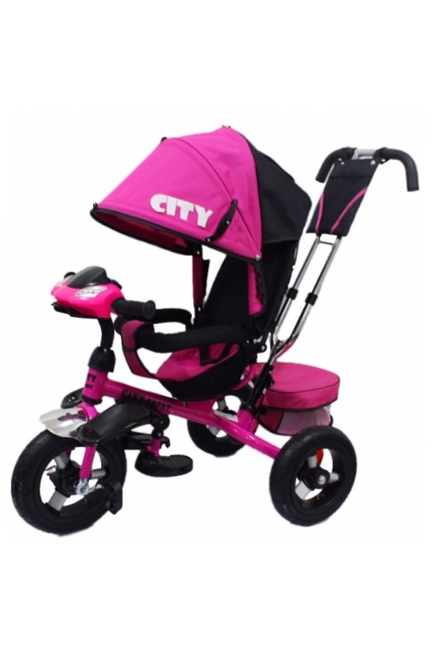 Детский трехколесный велосипед Trike City 5888A-1 ПОВОРОТНОЕ СИДЕНЬЕ