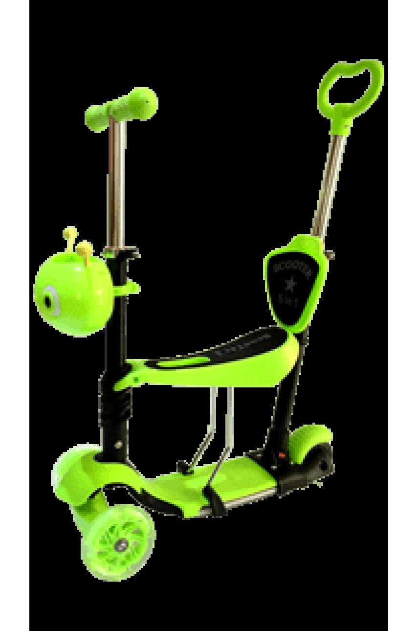 Детский трехколесный самокат-беговел с родительской ручкой SCOOTER 5 в 1
