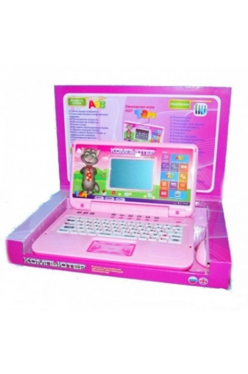 Детский компьютер обучающий Кот Том с сенсорной игрой 7419